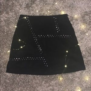 Black with silver pendants mini skirt!